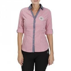 Chemise équitation femme PERFORMER rose rayé gris
