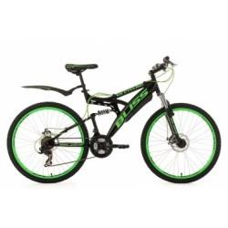 VTT tout suspendu KS Cycling Bliss 26´´ Shimano Tourney 7V Noir Vert