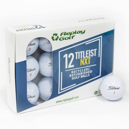 BALLES DE GOLF RECYCLEES TITLEIST NXT X12 Blanc