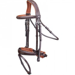 Bridon équitation taille cheval PULL BACK marron