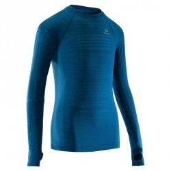Tee shirt manches longues athlétisme enfant kiprun care bleu