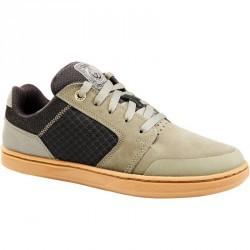Chaussures basses de skateboard junior CRUSH500 kaki
