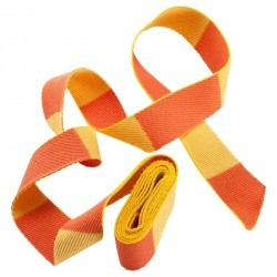 CEINTURE DE JUDO BICOLORE 2.50M JAUNE/ORANGE