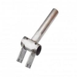 Boitier de pédalier avec pattes acier pour montage sur tube carré