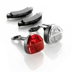 SET ECLAIRAGE VELO  LED SL200 AVANT et ARRIERE