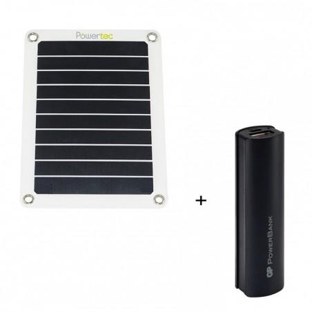Pack Chargeur solaire + Batterie de secours