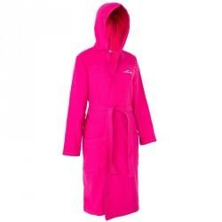 Peignoir coton léger natation femme rose avec ceinture et capuche e94901b83f2