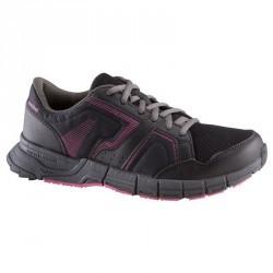 Chaussures marche sportive femme Propulse Walk noir / rose