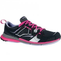 Chaussures marche sportive femme Propulse Walk 400 noir / rose