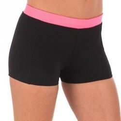 Bas de maillot de bain d'aquabike femme résistant au chlore Anna noir rose
