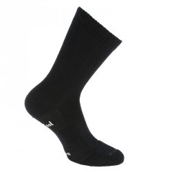 Chaussettes mi-mollet marche active Mid Warm laine/coton noir.
