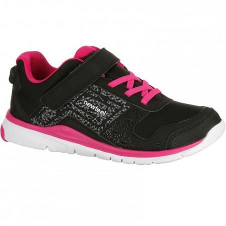 Chaussures marche sportive enfant Actireo noir / rose