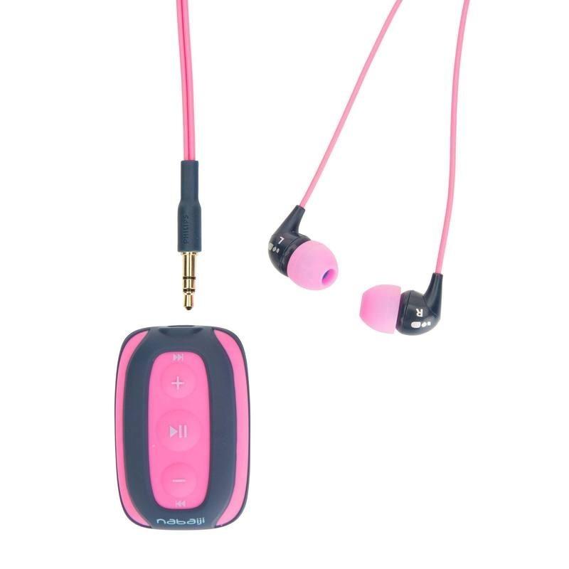 Lecteur MP3 étanche de natation SwimMusic 100 Rose