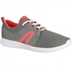 Chaussures marche sportive femme Soft 140 gris / rose