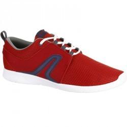 Chaussures marche sportive homme Soft 140 mesh rouge / bleu
