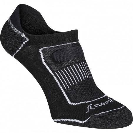 Chaussettes marche sportive Invisible 900 noir.