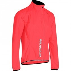 COUPE PLUIE VELO 500 FEMME ROSE FLUO