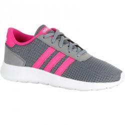Chaussures marche et sport à l'école enfant Lite Racer gris / rose