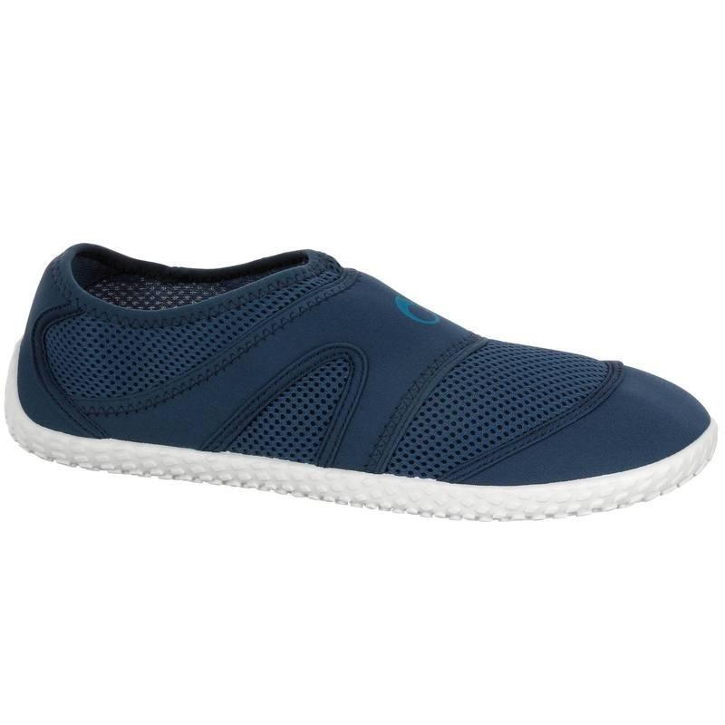 Chaussures aquatiques Aquashoes 100 bleues blanches
