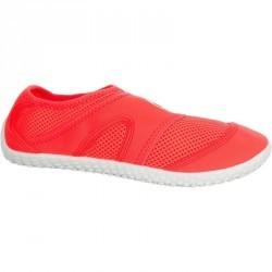 Chaussures aquatiques Aquashoes 100 blanches corails