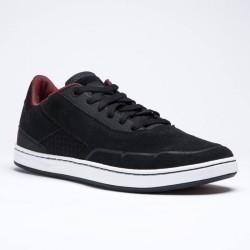 Chaussures basses de skateboard adulte CRUSH 500 noire/bordeaux
