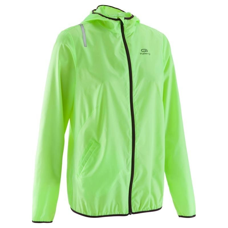 save up to 80% good out x low priced VESTE RUNNING FEMME KALENJI EKIDEN LIGHT JAUNE - avis / test