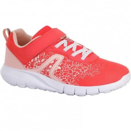 Chaussures marche sportive enfant Soft 140 rose corail