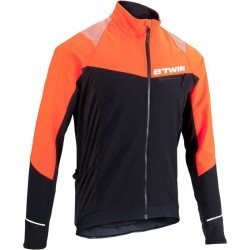 VESTE VELO HOMME 500 NOIR/ORANGE
