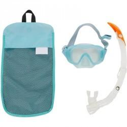 Kit masque tuba de snorkeling 520 adulte vert clair gris