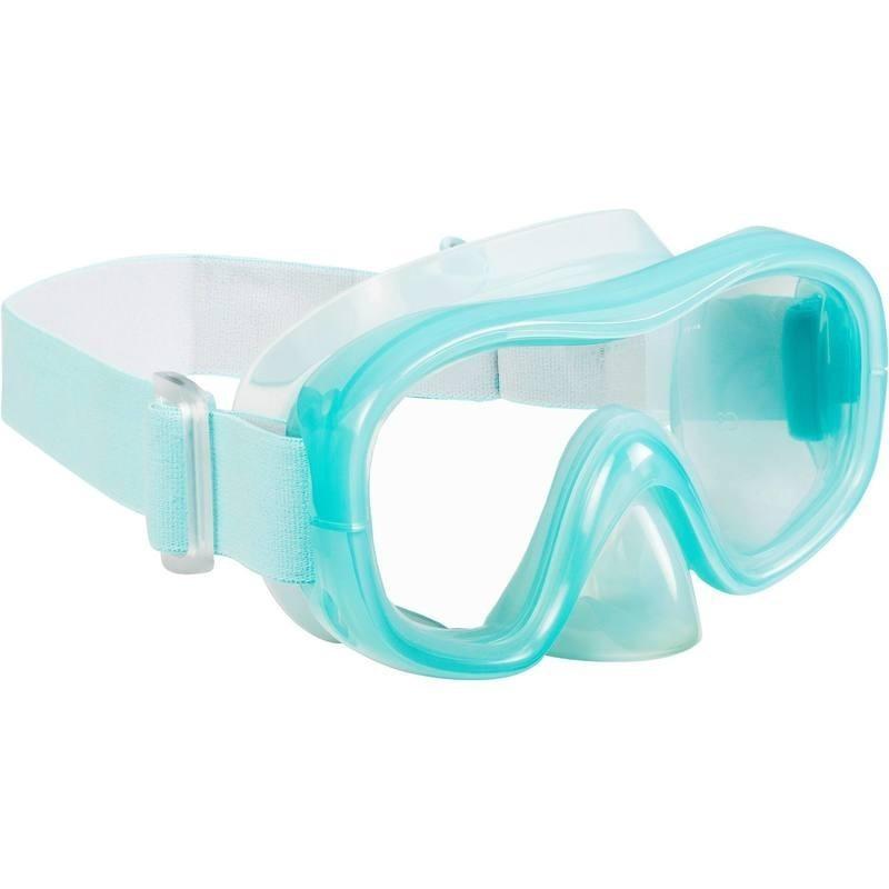 Masque de snorkeling 520 vert clair gris