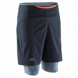 Baggy cuissard  trail running homme compression  noir gris