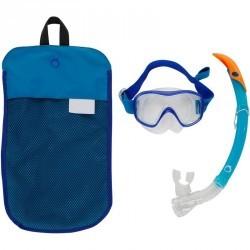 Kit masque tuba de snorkeling 520 Adulte bleu turquoise