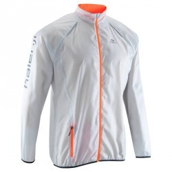 Veste coupe-vent trail running homme gris orange