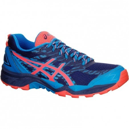 Chaussure trail running femme ASICS GEL FUJI TRABUCO 5 bleu rose