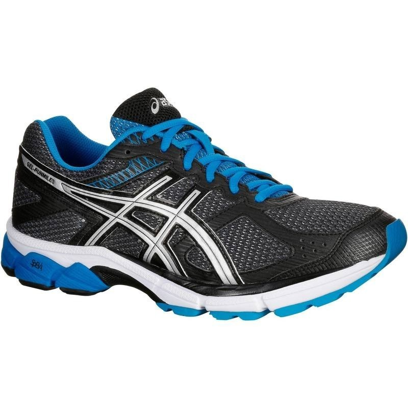 avis test chaussure de running homme asics gel runmiles 2 noir bleu asics prix. Black Bedroom Furniture Sets. Home Design Ideas