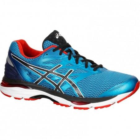Chaussure de running homme ASICS GEL CUMULUS 18 bleu rouge