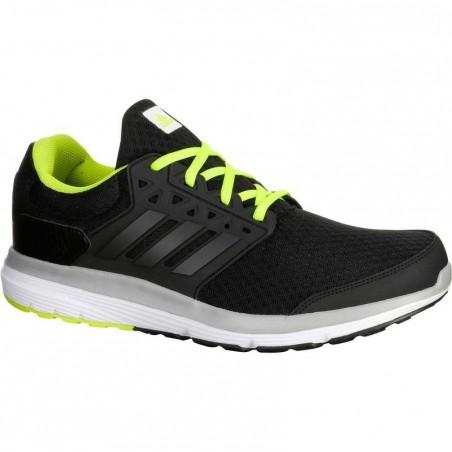 Chaussure running course à pied homme ADIDAS GALAXY ELITE noir jaune