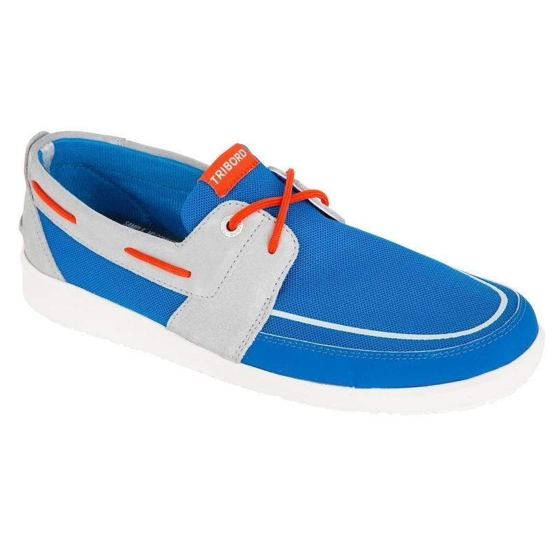Chaussures bateau homme SAILING100 bleu vif