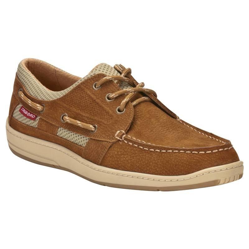 Chaussures bateau cuir homme CLIPPER marron clair