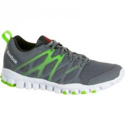 Chaussures marche sportive enfant Real Flex gris / vert