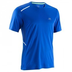 TEE SHIRT RUNNING HOMME RUN DRY + BLEU