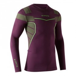 Sous maillot respirant manches longues adulte Keepdry 500 violet