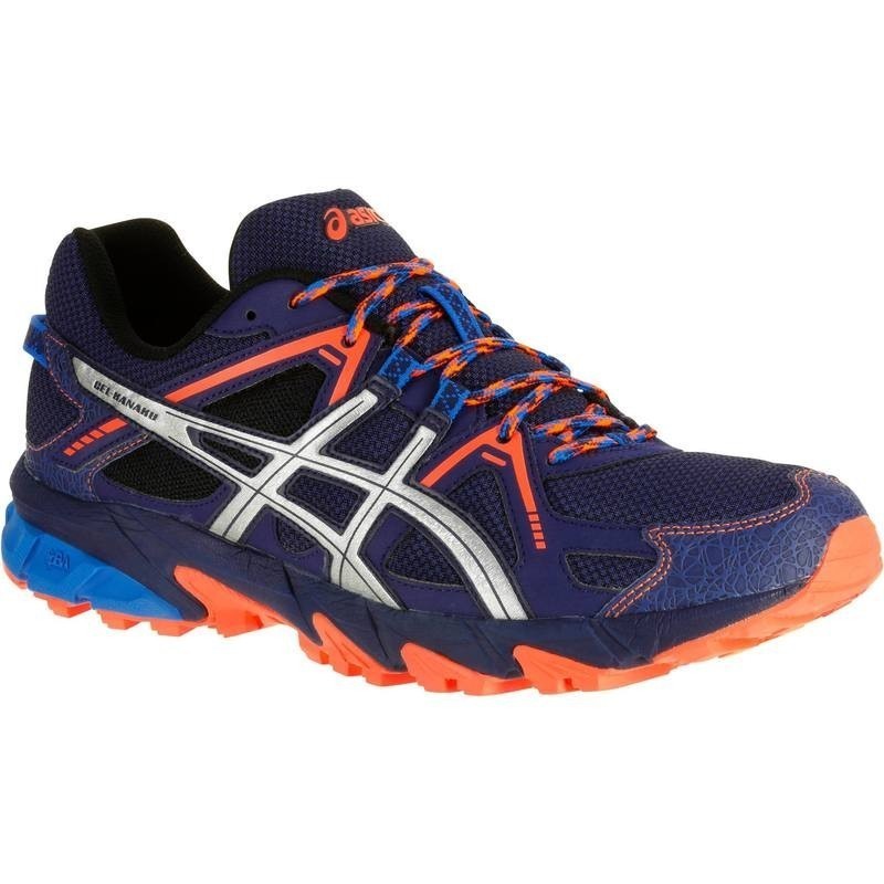 asics bleue orange