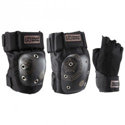 Set 3 protections roller street adulte USD noir