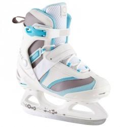 Patins à glace femme FIT 3 blanc bleus ciel