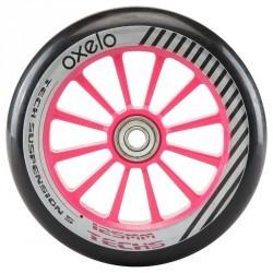 1 roue trottinette 125mm avec roulements rose