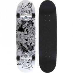 Skateboard MID 5 TATOO blanc