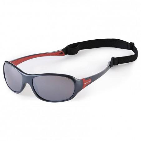 Lunettes de soleil ski randonnée enfant 7-10 ans TEEN 500 grises catégorie 4
