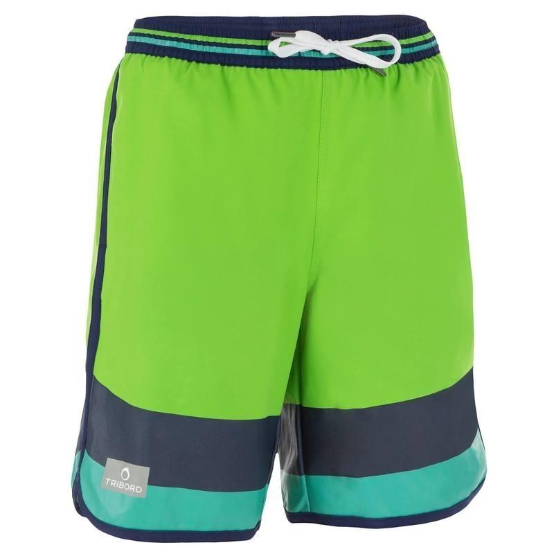 Boardshort long garçon Bidarte Mood vert