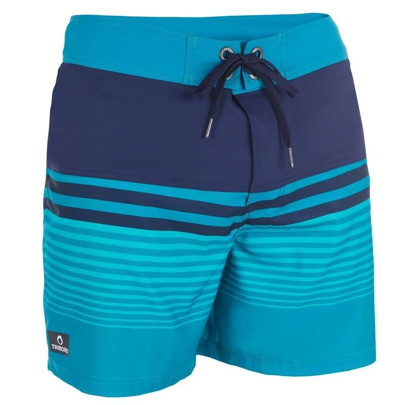 Boardshort court Guethary waves bleu